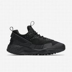 low priced 62576 a7e9e  97.26 black nike air huarache,Nike Mens Black Black Black Air Huarache  Utility Shoe