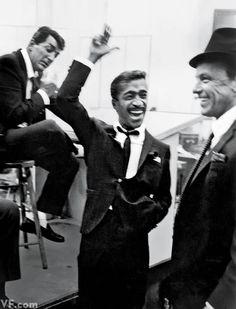 Dean Martin, Sammy Davis Jr., and Frank Sinatra. Photographed by Phil Stern, 1955