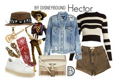 """""""Hector"""" by leslieakay ❤ liked on Polyvore featuring Alexander McQueen, Proenza Schouler, American Apparel, AMIRI, rag & bone, Burberry, disney, disneybound, pixar and coco"""