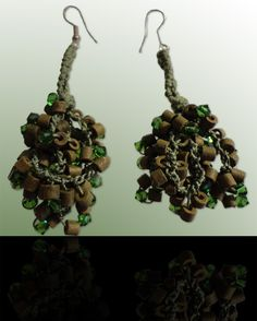 Emerald: Wear these handcrafted earrings by BRizzy with a feminine glamour accented the elegance. Emerald, Feminine, Glamour, Elegant, Earrings, How To Wear, Lady Like, Classy, Ear Rings