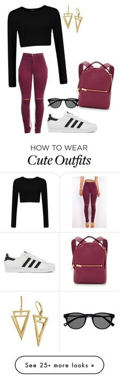 """""""Cute yet cozy casual outfit!"""" featuring adidas and Sophie Hulme Outfits For Teens, Trendy Outfits, Winter Outfits, Summer Outfits, Sophie Hulme, Teen Fashion, Fashion Outfits, Womens Fashion, Traje Casual"""