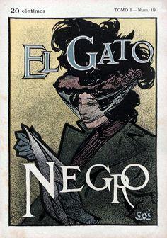 https://flic.kr/p/KLnNGd | 1898_05_21 GATO NEGRO | El Gato Negro. Barcelona, Tomo I (21/05/1898), núm. 19, coberta, col.