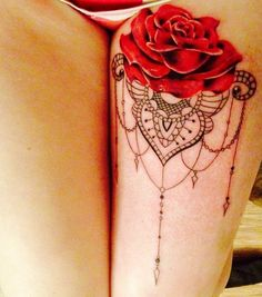 flower lace tattoo