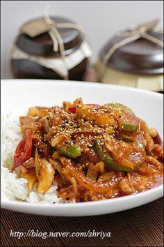 문성실의 맛있는 밥상 :: 매운맛이 사무칠땐~~낙지덮밥~