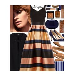 """""""Big Bold Stripes: Contest Entry"""" by isquaglia ❤ liked on Polyvore featuring Givenchy, Jeffrey Levinson, Gianvito Rossi, Agent 18, Laura Mercier, Dolce&Gabbana, Becca, MAC Cosmetics, Chan Luu and Roberto Coin"""