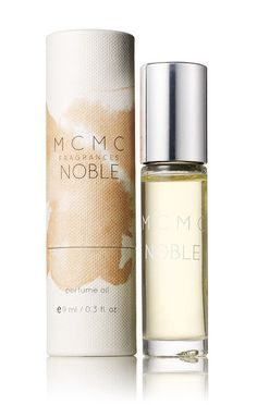 NOBLE roll-on perfume oil: Combined with rich almondy notes of chai tea, burning incense, amber and musk, the jasmine-centered Noble is a long-lasting floral woody with an ethereal drydown.