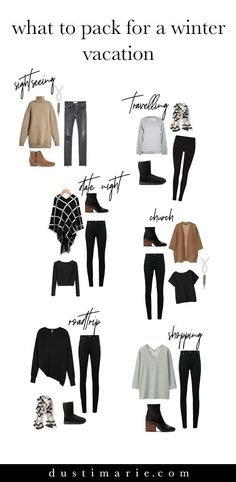 What to Pack for a Winter Vacation