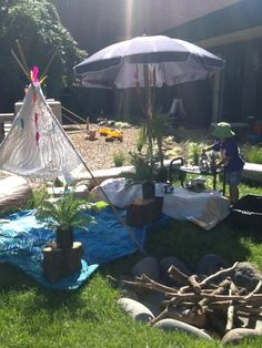Tee pee and tea party in the sunshine at New Shoots Tauranga  ≈≈