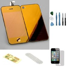 Iphone 4 GSM (At&t) Complete Color Change Kit (Mirror Orange) #http://www.pinterest.com/ordercases/