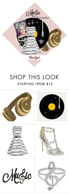 """""""Music everywhere ;)"""" by andrea-pok on Polyvore featuring Florent Bodart, Badgley Mischka and vintage"""