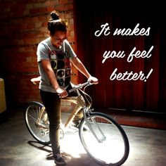 Regular biking simply makes you feel better. Bicycle Quotes, Cycling Quotes, Bamboo Bicycle, Adult Tricycle, Bicycle Safety, Riding Quotes, Cycle Ride, Cycling Motivation, Girl Inspiration