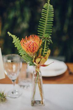Tropical Downtown LA wedding