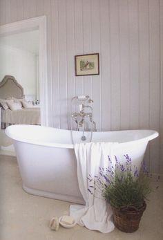 Shiplap Bathroom, Small Bathroom, Dyi Bathroom, Washroom, Walk In Shower Enclosures, Lavender Cottage, French Lavender, Walk In Shower Designs, French Country Style