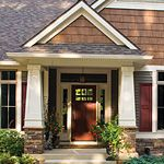 Front porch pillar ideas porch pinterest front porch - Exterior house color scheme generator ...