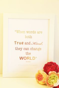 Real Gold Foil Print When words are both True and by MoonOrchids