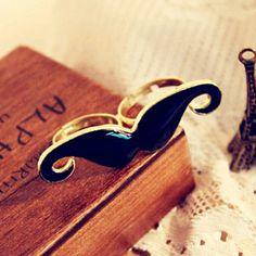 Prsten Double Mustache