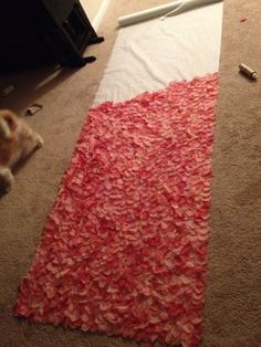 The Start of My DIY Coral Petal Aisle Runner! :  wedding Photo 4
