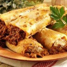 Κανελόνια με κιμά Greek Recipes, Desert Recipes, Sauce Bolognaise, Cannelloni, Other Recipes, Pasta Dishes, Food Processor Recipes, Cake Recipes, Recipies