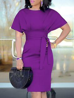 Patchwork Waist Belted Mid-Calf Slip Dress e0d1aa20c5ae