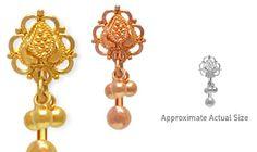 Dala Dangle by #VenusByMariaTash #Bodyjewelry | Available in White, Yellow and Rose Gold at www.venusbymariatash.com