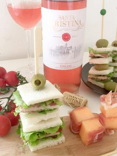 Cooking with Manuela: Italian Antipasto on a Skewer and Santa Cristina Rose'
