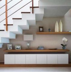 Under stairs storage modern basements 15 New ideas Understairs Ideas Basements Ideas Modern stairs storage Understair Modern Basement, Modern Stairs, Basement Stairs, Basement Closet, Basement Ideas, Basement Ceilings, Basement Renovations, Home Stairs Design, Interior Stairs
