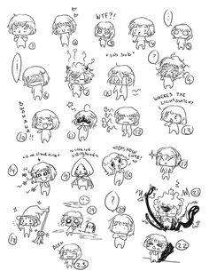 .:Chibi expressions:. by miyakies on deviantART