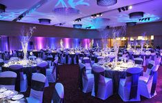 A sparkling winter theme to the decor of a recent gala event at The Europe Hotel & Resort - www.theeurope.com