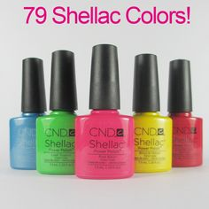 10 unids/lote CND Shellac Esmalte de Uñas de Gel Gel Soak-off de Uñas de Gel UV LED de Larga duración 7.3 ml caliente Del Gel Del Clavo de 89 Colores