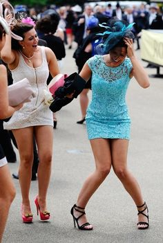Fascinators Fly Everywhere (Literally) At The Royal Ascot