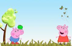 """CALLY'S DESIGN: Convites Aniversário Prontos """"Peppa Pig"""" para Imprimir"""