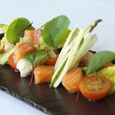 Cured Salmon with Crayfish, Fennel and Asparagus — drizzle a little ...