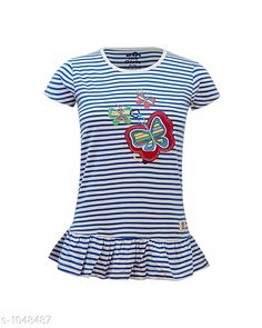 Tops & Tunics Trendy Cotton Knitted Girl's Top  *Fabric* Cotton Knitted  *Sleeves* Short Sleeves Are Included  *Size* Age Group (2 - 3 Years) - 20 in Age Group (3 - 4 Years) - 22 in Age Group (5 - 6 Years) - 24 in Age Group (7 - 8 Years) - 26 in Age Group (8 - 9 Years) - 28 in Age Group (9 - 10 Years) - 30 in Age Group (10 - 11 Years) - 32 in Age Group (12 - 13 Years) - 34 in    *Type* Type  *Description* It Has 1 Piece Of Girl's Top  *Work* Printed  *Sizes Available* 2-3 Years, 3-4 Years, 5-6 Years, 7-8 Years, 8-9 Years, 9-10 Years, 11-12 Years, 12-13 Years *   Catalog Rating: ★4 (139)  Catalog Name: Doodle Trendy Cotton Knitted Girl's Tops Vol 2 CatalogID_127548 C62-SC1142 Code: 912-1048487-