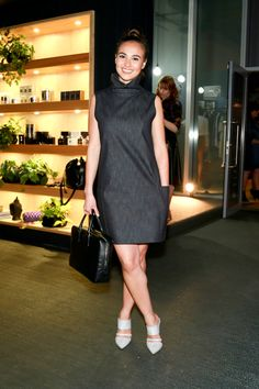 Street Stylin' at the Pink Ink Boutique unveiling: Alicia wears a dress from Rebel Muse