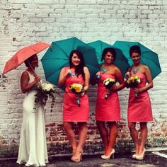Coral/peach and mint/aqua/seafoam - want these colors (and parasols or an umbrella-y version)