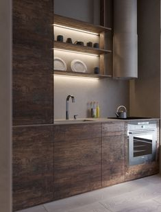 Sergey Makhno Architects created a Wabi Sabi apartment in Kiev, Ukraine. The small apartment of 50 is influenced by Japanese philosophies, called. Interior, Apartment Design, Wabi Sabi, Best Interior Design, Cool Furniture, Interior Design, Decorating Your Home, Kitchen Design, Modern Apartment
