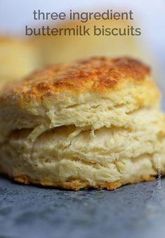 Three Ingredient Buttermilk Biscuit Recipe - Cooking | Add a Pinch
