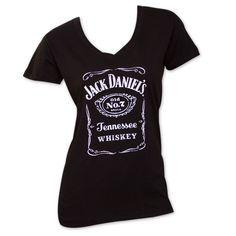 Women's Jack Daniels V-Neck T-Shirt