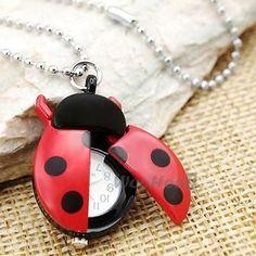 Red-Ladybug-Necklace-Pendant-Quartz-Watch-1-58x0-98-FASHION cheap as chips ;)