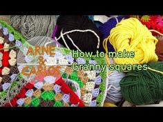 (4) How to make Granny squares - by ARNE & CARLOS - YouTube