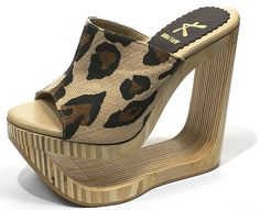 - These wedge sandals elevate six inches off the ground. They're absolutely perfect for women who are not very tall. High Heel Mule Shoes, Platform High Heels, Sexy High Heels, High Heels Stilettos, Pumps, Wedge Sandals, Wedge Shoes, Shoes Heels, Animal Print High Heels