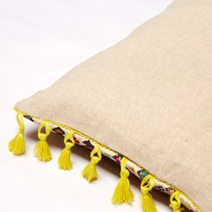 about details Colourful, bold and vibrant - what more can you ask for from an Indian Textile? Our Taffy Tassel Cushion was found somewhat by chance after a hot Indian Textiles, Soda, Printing On Fabric, Tassels, Cushions, Stitch, Prints, Vintage, Color