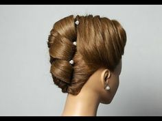 ▶ Evening with braided hairstyle for medium to long hair. Hairstyle for Medium Long hair - YouTube