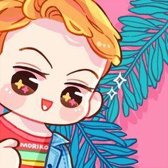 Sehun Kpop Exo, Sehun, Kokobop Exo, Exo Stickers, Exo Anime, Ko Ko Bop, Exo Fan Art, Kim Minseok, Kawaii Chibi