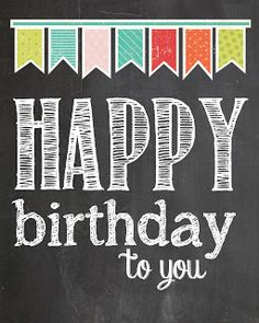 happy birthday printable | The Wood Connection Blog