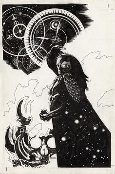 The Rook by Mike Mignola Comic Book Artists, Comic Artist, Comic Books Art, Mike Mignola Art, Black And White Comics, Ink Pen Drawings, Comic Styles, Fantasy Inspiration, Comic Character