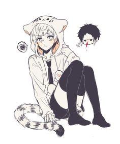 Atsushi xx Akatagawa Stray Dogs Anime, Bongou Stray Dogs, Bungou Stray Dogs Characters, Anime Characters, Cute Anime Boy, Anime Guys, Bungou Stray Dogs Atsushi, Neko Boy, Bakugou Manga