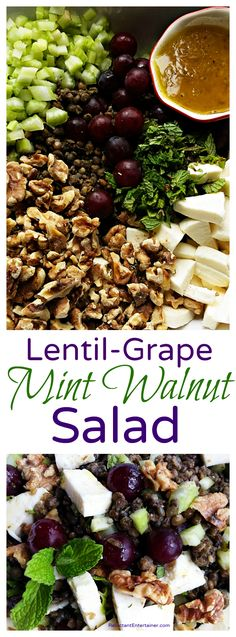 Lentil-Grape Mint Wa