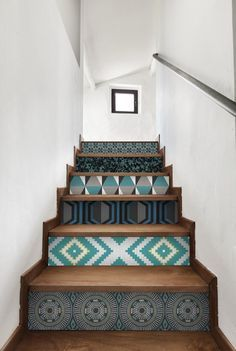 Wallpaper Trends 2019 for Interior Decoration Decor, Interior Stairs, Diy Stairs, House Architecture Design, Trendy Interiors, Wallpaper Trends, Trending Decor, Stairs Design, Stairs