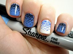 Tendencia: uñas pintadas con Sharpies